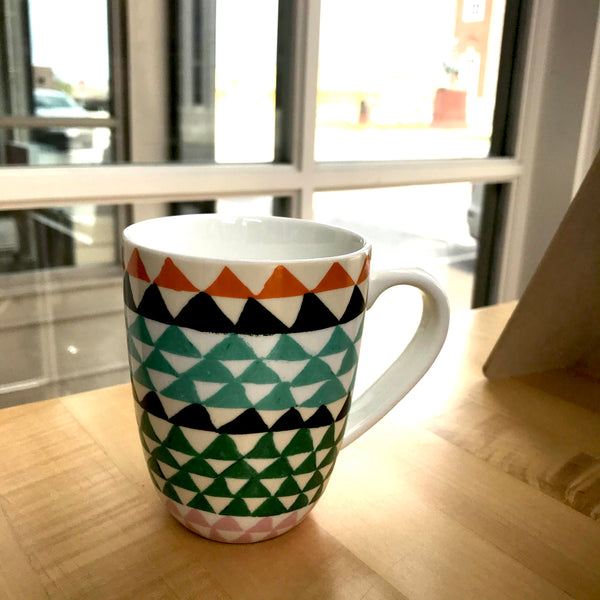 Coffee Mug, dots and dashes assorted