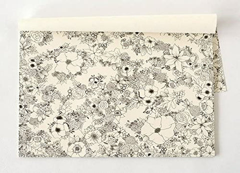 Kitchen Papers Floral Coloring Placemats