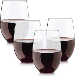 Uptown Stemless White Wine Glasses set/4
