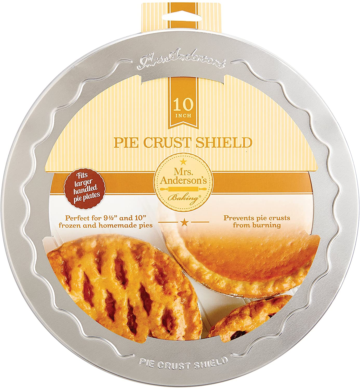 Mrs. Anderson's Baking Pie Crust Protector Shield