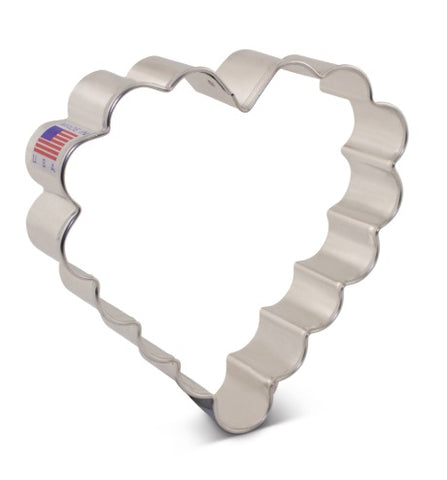 Scalloped Heart Shape Cookie Cutter