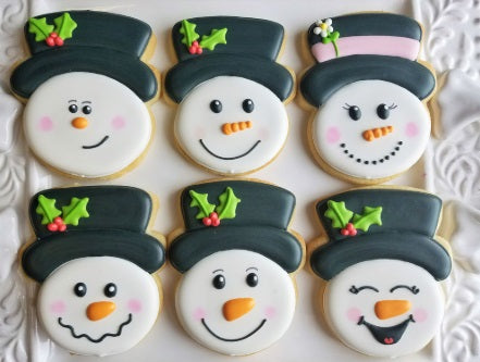 Snowman with A Hat Cookie Cutter