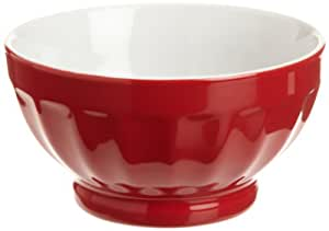 Red Fluted Bowl