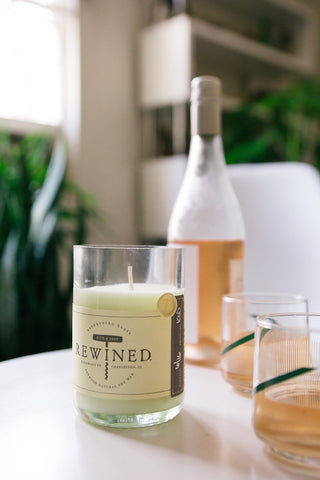 Rewined Rose' Candle