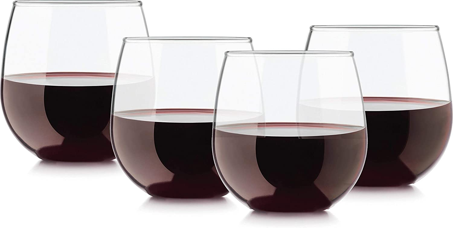Uptown Stemless Red Wine Glasses