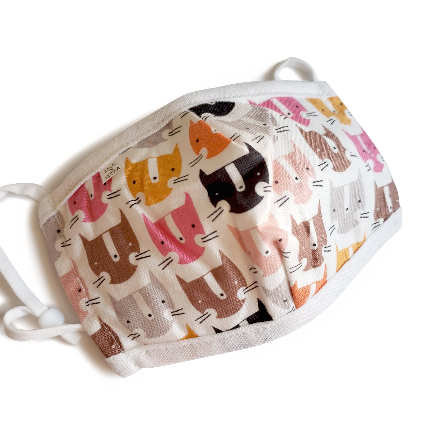 Kids Reusable Mask - Pink Fox
