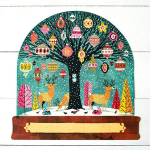 Hester & Cook Snow Globe Die Cut Placemat