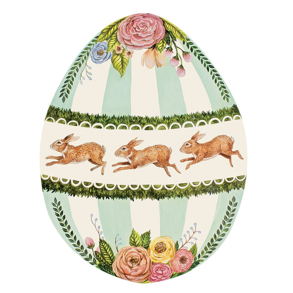 Die-Cut Boxwood Bunny Egg Placemat