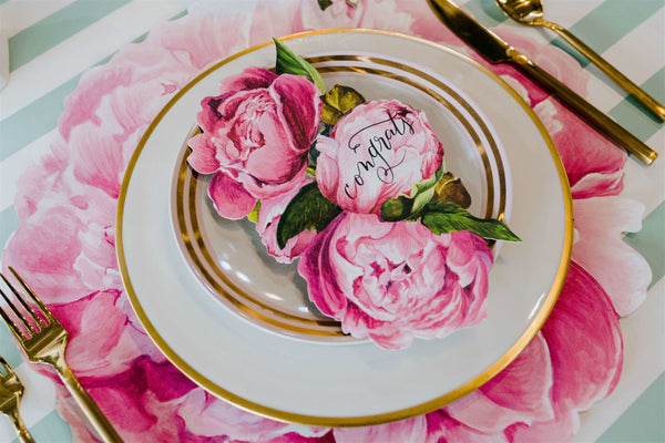 Peony Table Accent Card
