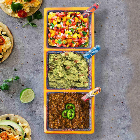 Three Section Taco Tray