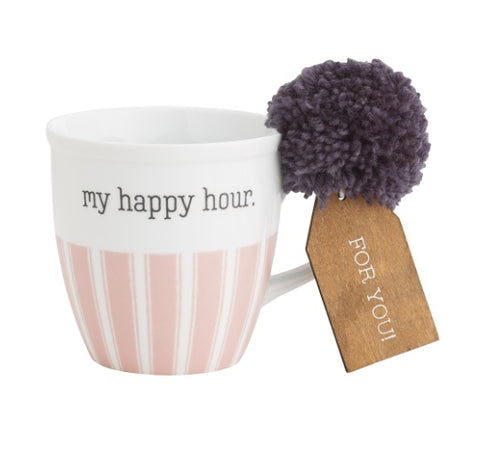 "Coffee Mug, ""My Happy Hour"""