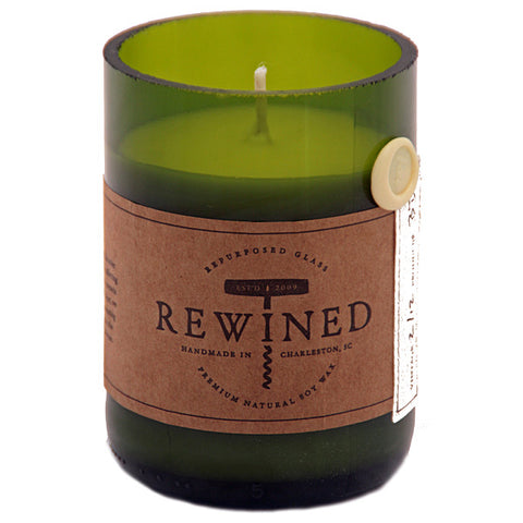 Rewined Champagne  Repurposed Wine Bottle Candle