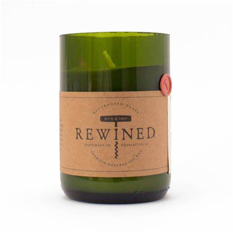 Rewined  Mimosa Repurposed Wine Bottle Candle