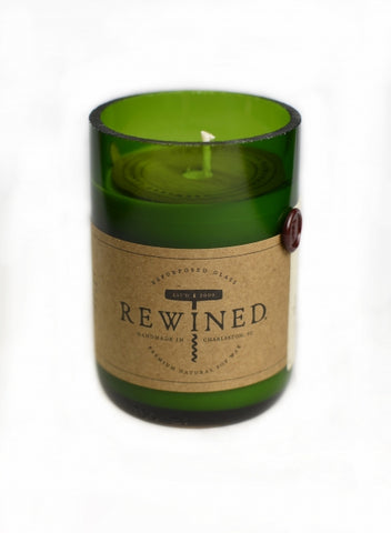 Rewined Pinot Noir Repurposed Wine Bottle Candle