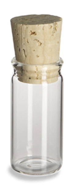 Glass Vials with Cork Lid