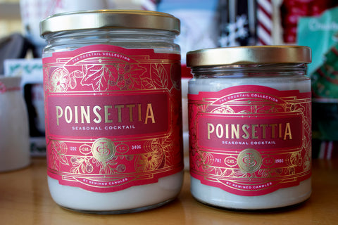 Rewined Poinsettia Candle
