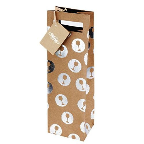 Tipsy Silver Wine Gift Bag