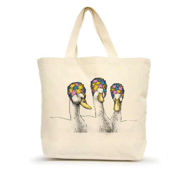 Ducks in Bathing Caps Tote