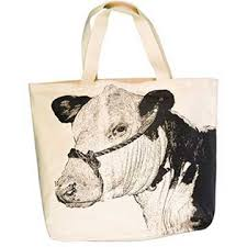 Eric & Christopher Cow Tote Bag