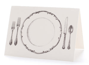 Perfect Setting Scalloped Edge Plate Placecard