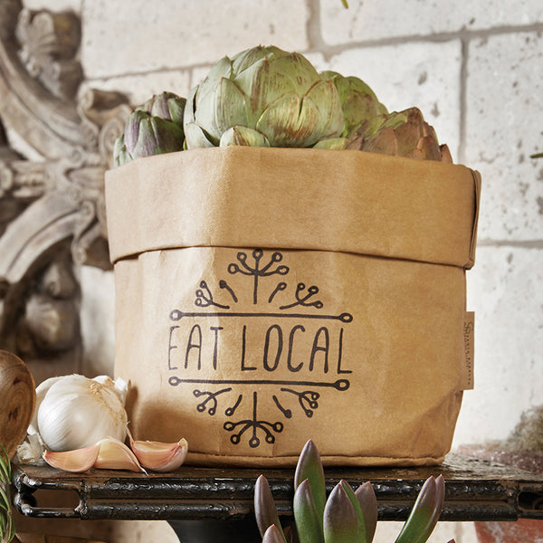 Washable Paper Bag - Eat Local