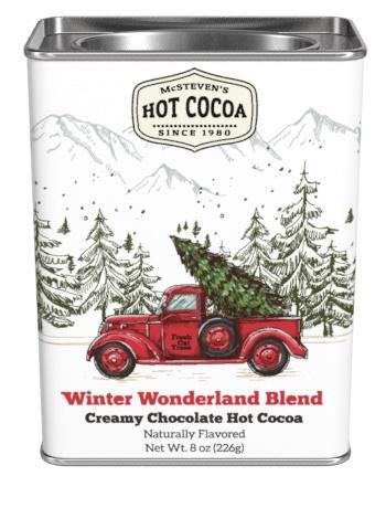 Winter Warmer Wonderland Red Pickup Hot Cocoa