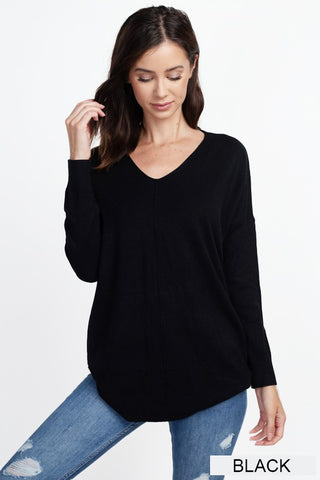 Dreamers Tunic Sweater-Black