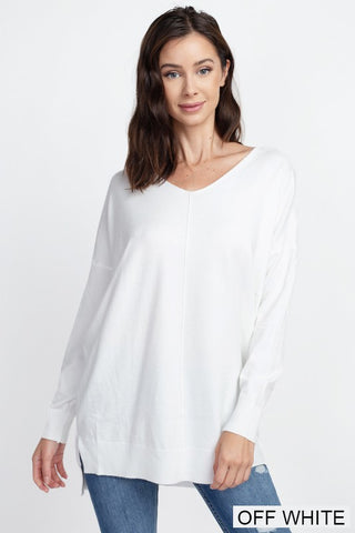 Dreamers Tunic Sweater- Off White