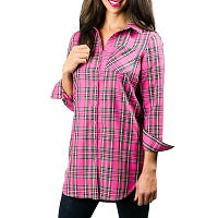 Penelope Tunic: Hot Pink Plaid