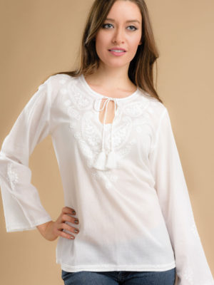 Sarika White Tunic