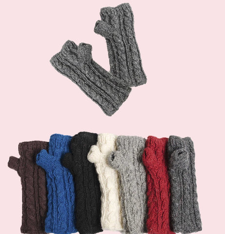 Cable Knit Fingerless