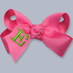 Monogrammed Hair Bow- Large