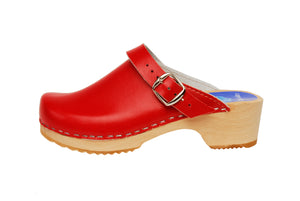 Children's Holiday Red Clogs