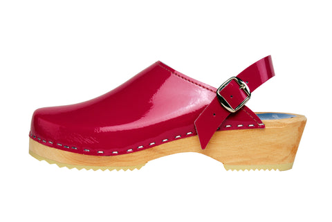 Pink Patent Clogs