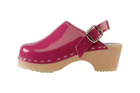 Children's Hot Pink Patent Clog