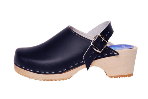 Children's Marina Navy Blue Clogs