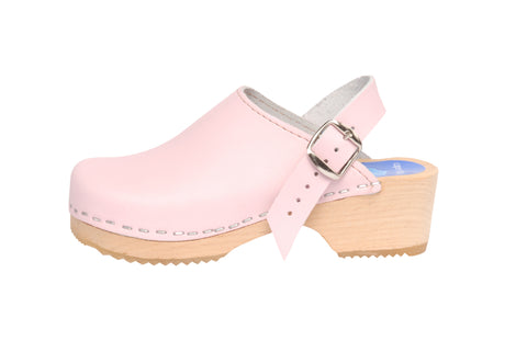 Children's Solid Pink Clogs