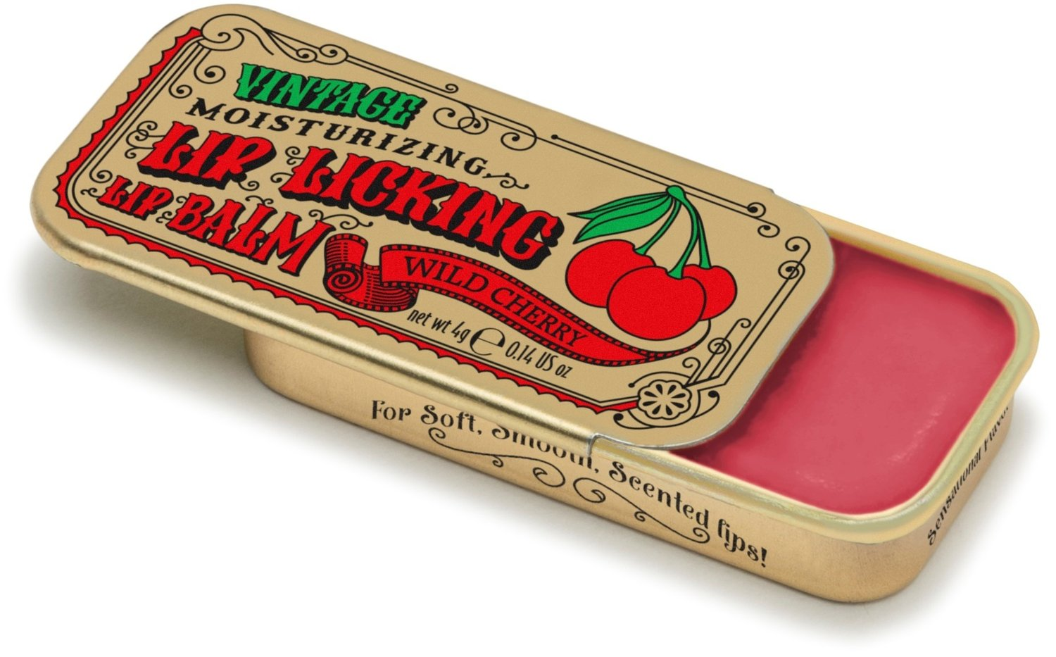 Wild Cherry(Tinte Cosmetics Vintage Moisturizing Lip Licking Lip Balm)