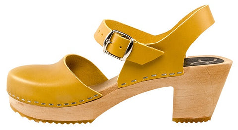 Mary Jane Clog Mustard