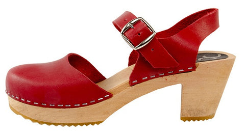 Mary Jane Clog Red