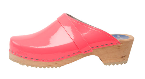 Neon Pink Patent Leather Clog