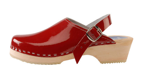 Cranberry Patent Leather Clog