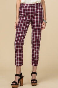 Plaid Pant Cropped Trouser Pants