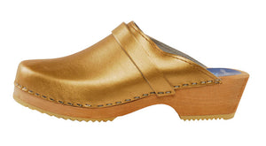 Gold Solid Clog