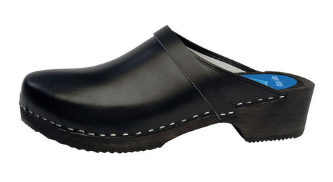 Jet Black Solid Clog