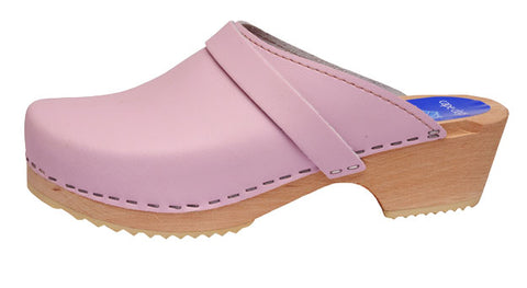 Pink Solid Clog