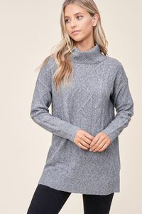 Staccato Ribbed Turtleneck Sweater