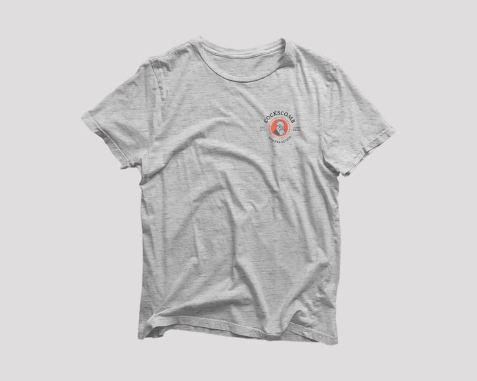 grey t-shirt for Cockscomb San Francisco restaurant