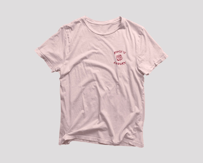pink t-shirt for Rose's Luxury restaurant Washington DC