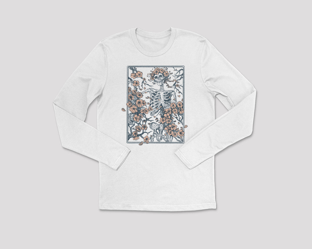 Flower + Bone - Long Sleeve Tee